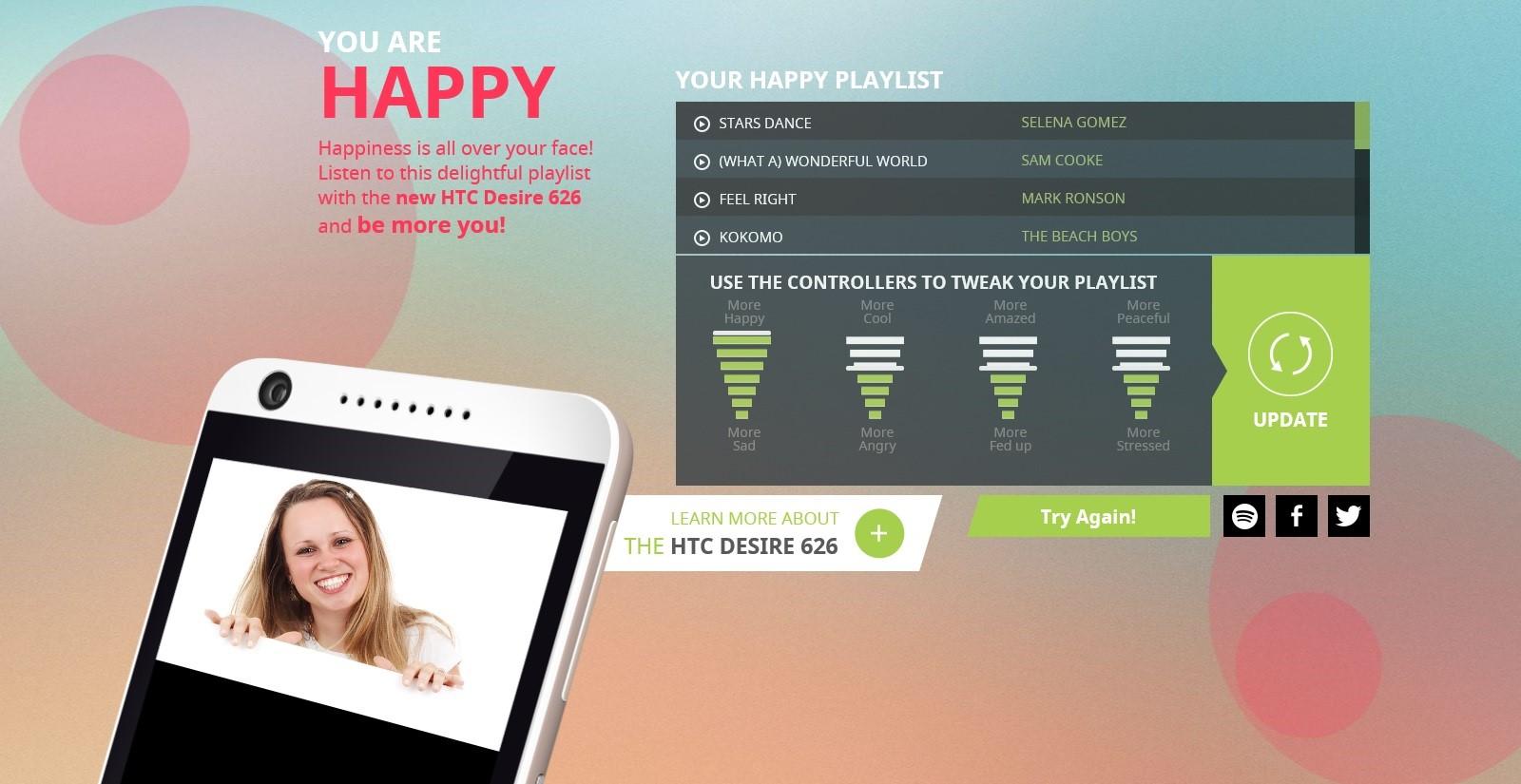 spotify htc emotions media player